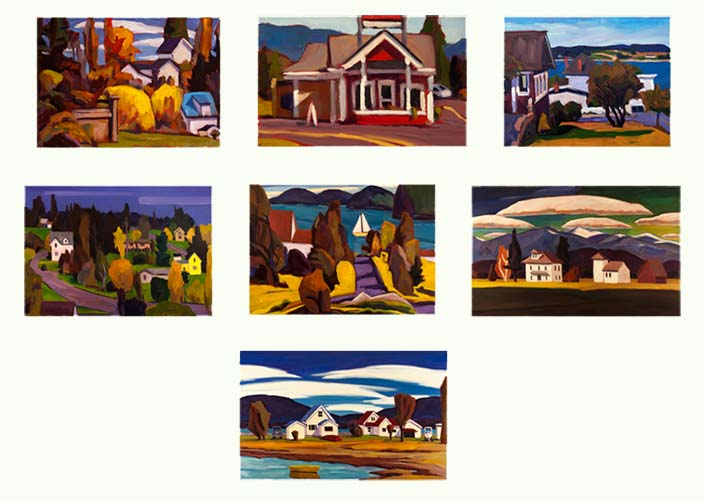 contact sheet of painting images